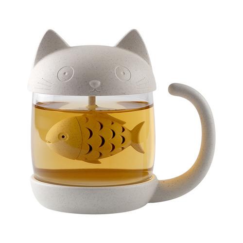 喵造型泡茶水杯