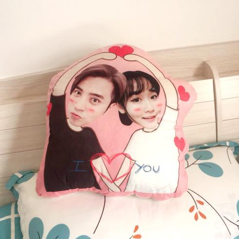 情侶客製抱枕-造型