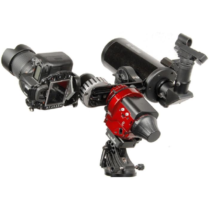 星野赤道儀 搭載兩部設備可做不同角度的縮時攝影或動態攝影、天文觀察等運用