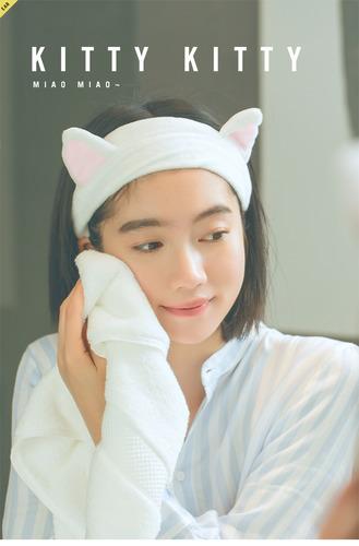 貓耳洗臉髮帶