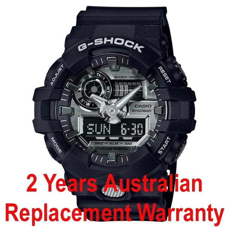 54dc6226da0 Buy Casio G-Shock GA-710-1A Black x Silver Men s Watch