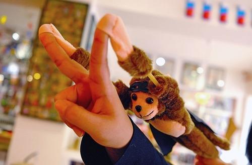 會尖叫彈力小猴 紓壓玩具