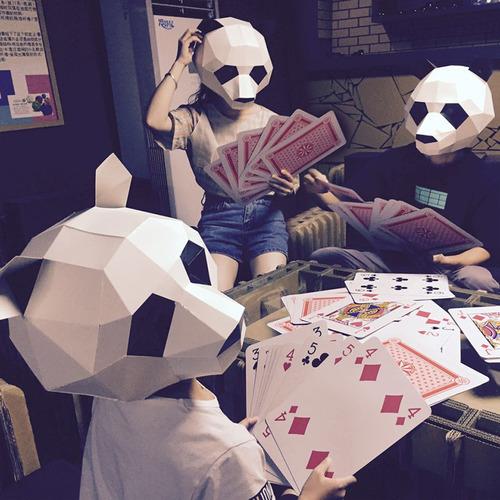 DIY創意動物紙模面具派對必備