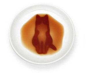 貓咪凹凸醬油碟