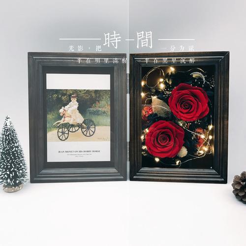 情人節送禮全攻略-永生花實木相框