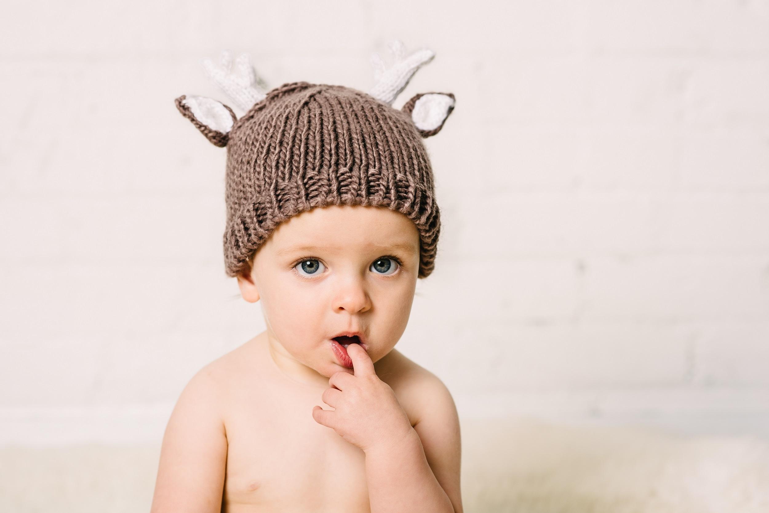 a276b7da799  Blueberry Hill Hartley Deer Tan Knit Hat