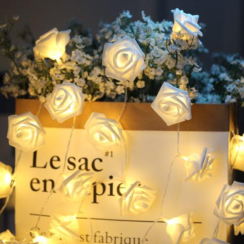 浪漫玫瑰花裝飾燈串