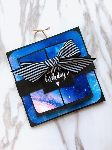 星空渲彩生日卡片,一生必須擁有一次的浪漫|愛禮物