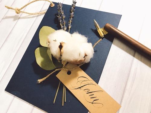 蓬鬆的思念|不凋棉花客製手寫卡