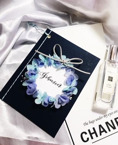 浪漫不凋繡球卡,讓愛心圍繞你的名|愛禮物