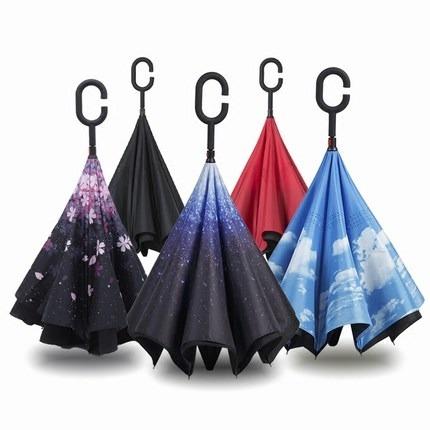 反向自動免持式晴雨傘