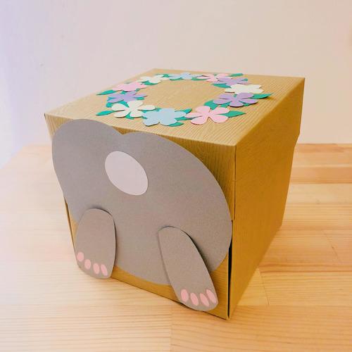 【獨家手工禮物】法式兔子x花圈禮物盒,萌到一頭栽進你心|愛禮物
