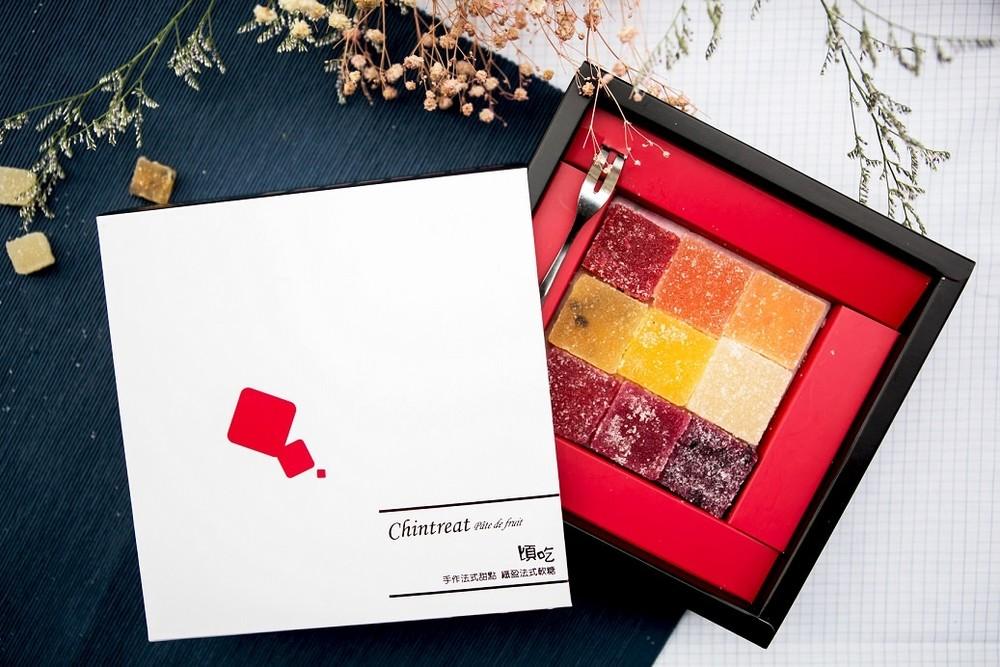 婚禮週邊-『伴手禮盒/伴娘伴郎禮盒』 9種水果綜合法式喜糖禮盒(9片95g與18片190g)-45天之後交期