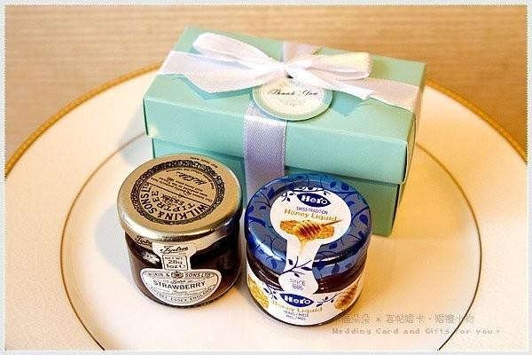 婚禮週邊-Double Love Tiffany盒「果醬+蜂蜜」二入禮盒