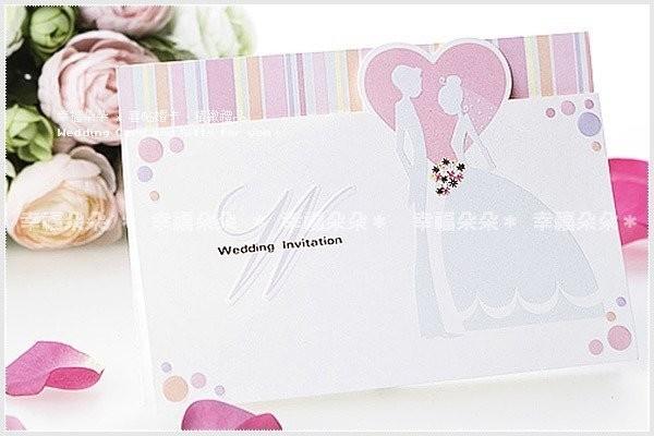 婚禮週邊-進口設計婚卡【甜蜜邀約】.編號ww0001(基本100張起訂)(限宅配)