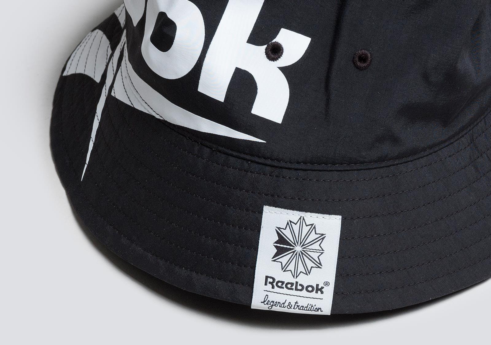 6166b9f2bac REEBOK VECTOR BUCKET HAT BLACK 漁夫帽
