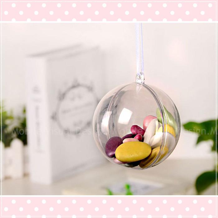 婚禮週邊-純透明空心圓形永生花球(10cm直徑)