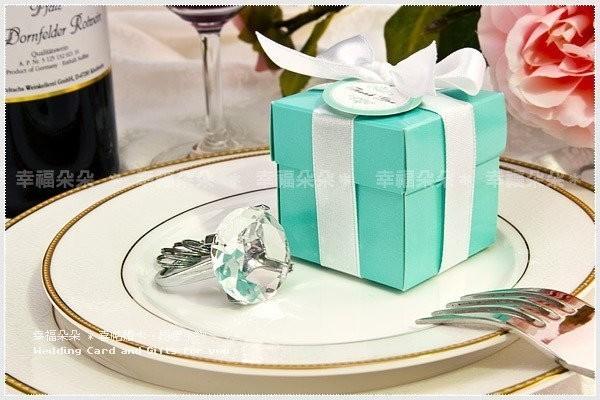 婚禮週邊-清倉特價↘29元↘數量有限↘售完為止-歐美同步流行-Tiffany經典藍鑽戒鑰匙圈-(透明)(粉色)(紫色) 3色可選