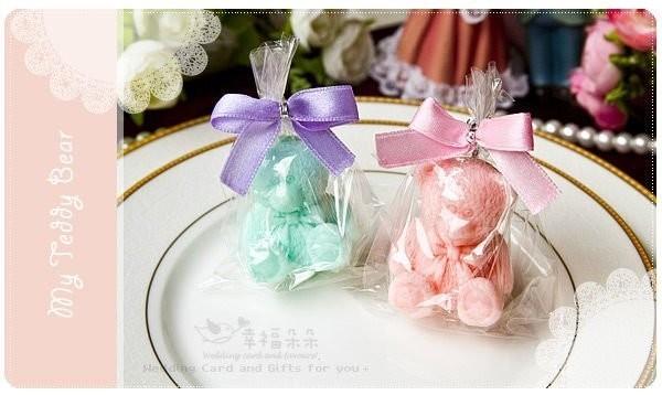 婚禮週邊-精巧單包裝泰迪熊香皂