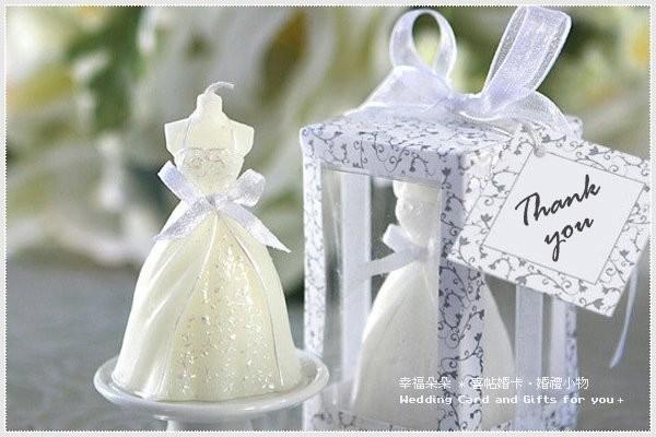 婚禮週邊-婚紗禮服蠟燭