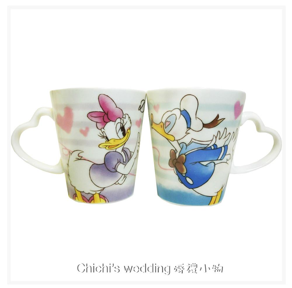 婚禮週邊-日本迪士尼婚禮小物 -唐老鴨&黛西相親相愛對杯