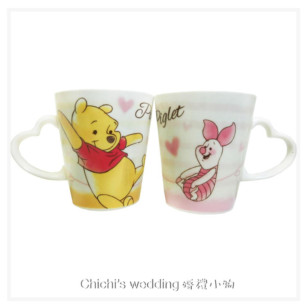 婚禮週邊-日本迪士尼婚禮小物 -小熊維尼&小豬對杯
