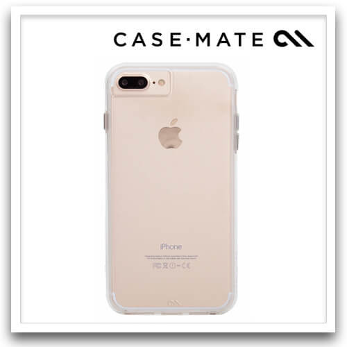 Case-Mate iPhone 8 Plus Naked Tough, Clear/Clear   Talaco