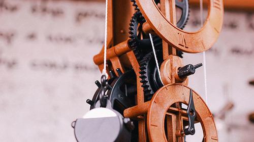 機械鐘|達文西木作DIY