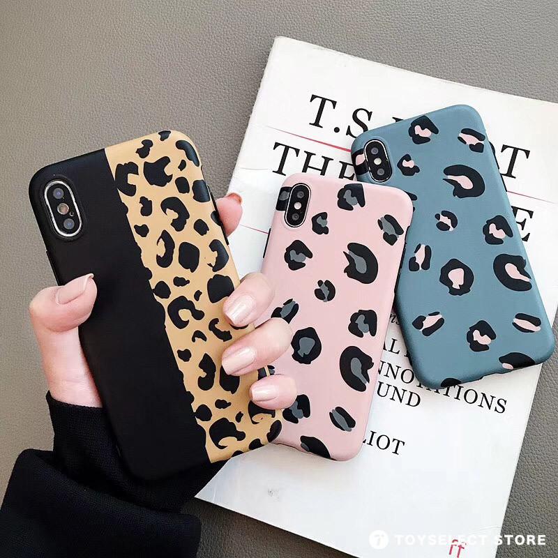 出清SALE【可掛脖】俏皮粉嫩馬卡龍豹紋iPhone手機殼