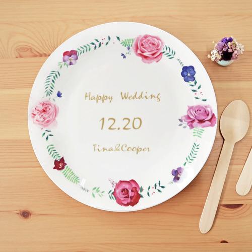 紀念日禮物|花圈瓷盤