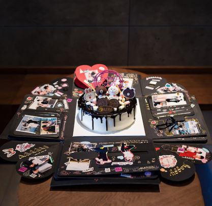 生日蛋糕爆炸禮物盒