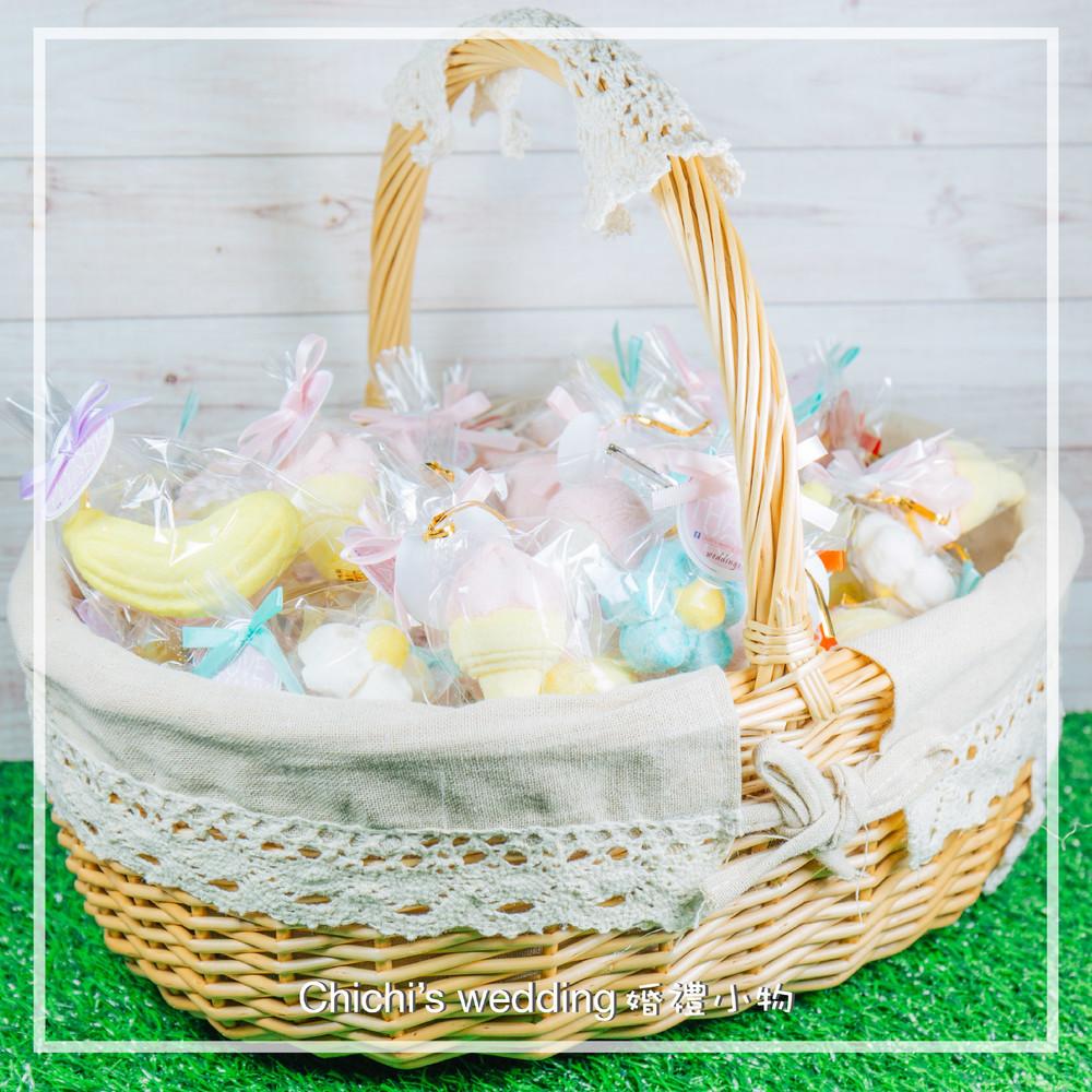 婚禮週邊-創意造型棉花糖大提籃組(90顆)