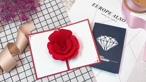 永恆的愛|紙雕POP-UP立體卡片