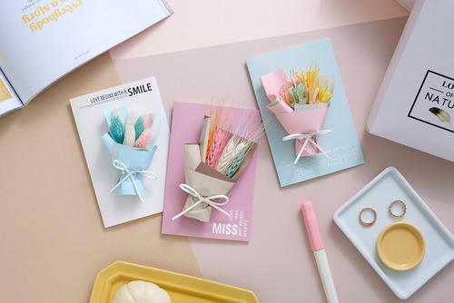 優雅浪漫乾燥花卡片