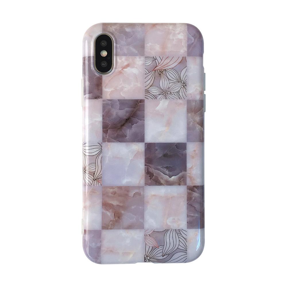 出清SALE【可掛脖】復古大理石花磚iPhone手機殼