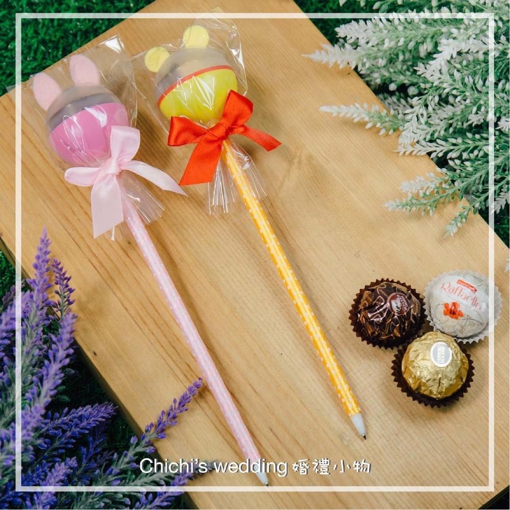 婚禮週邊-維尼小豬金莎巧克力造型筆