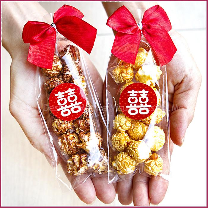 婚禮週邊-婚禮魔球爆米花(大紅囍字款)-焦糖/巧克力 2口味可選-★需依日期預訂客製(限宅配)