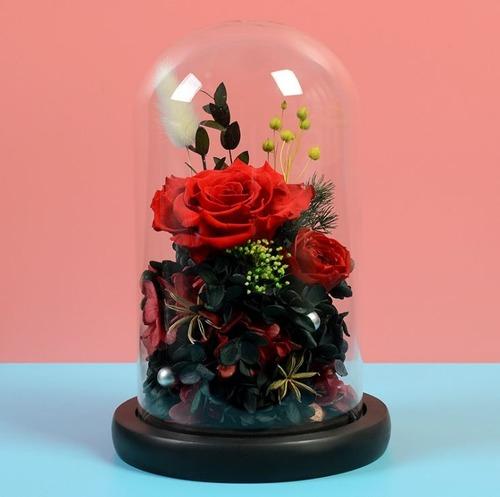 幽幽獨語|永生花玻璃罩高檔禮盒