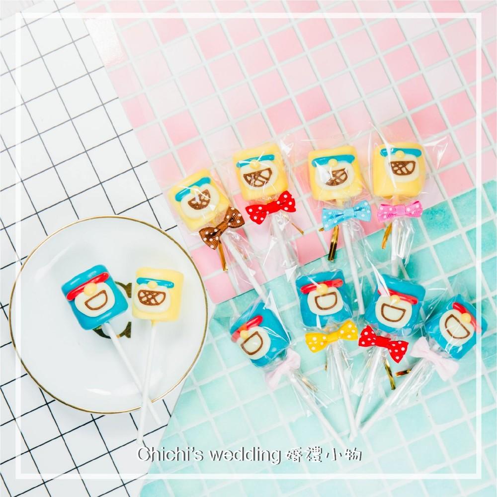 婚禮週邊-小叮噹哆啦A夢造型棉花棒棒糖