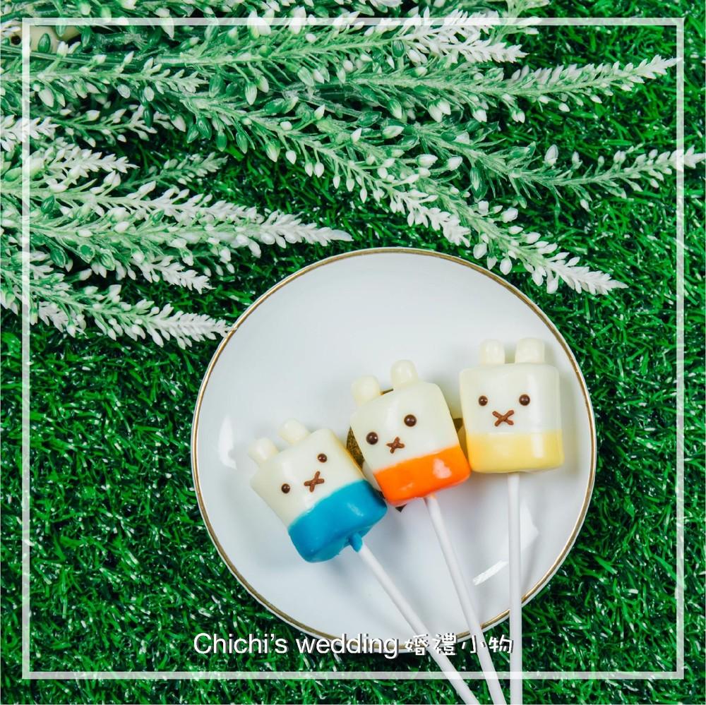 婚禮週邊-米菲兔家族造型棉花棒棒糖