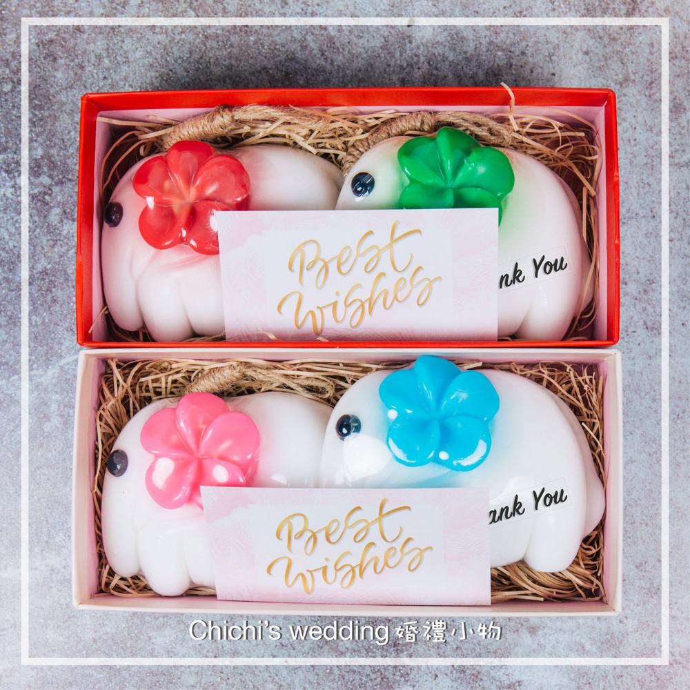 婚禮週邊-獨家『好對象禮盒』-手工大象造型皂
