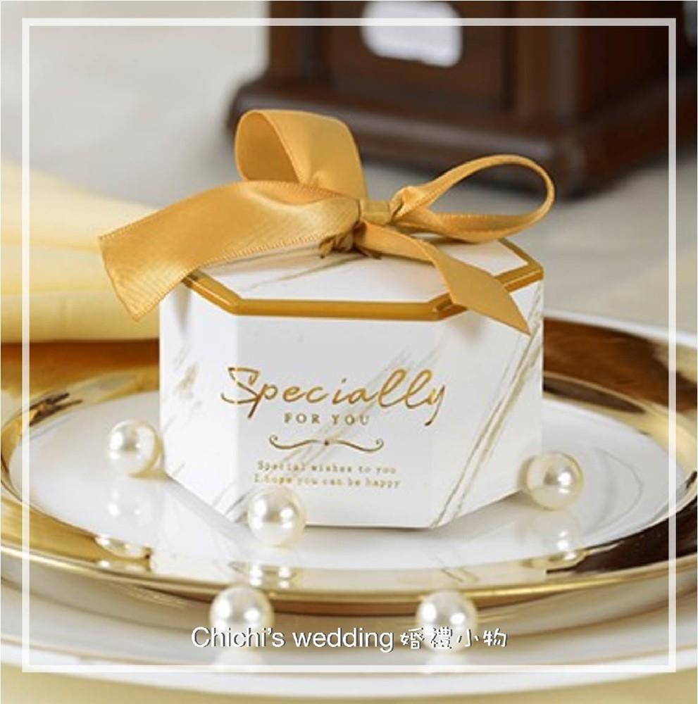 婚禮週邊-大理石六角喜糖盒