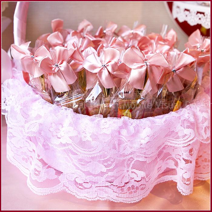 婚禮週邊-午逅-比利時焦糖餅乾+玫瑰湯匙組(粉緞)X100份+大提籃X1個(限宅配)