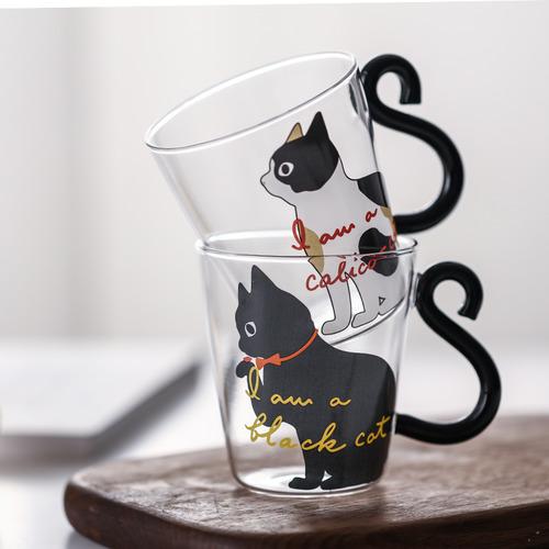 可愛貓尾貓咪杯