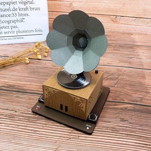 復古黑膠唱片|留聲機卡片
