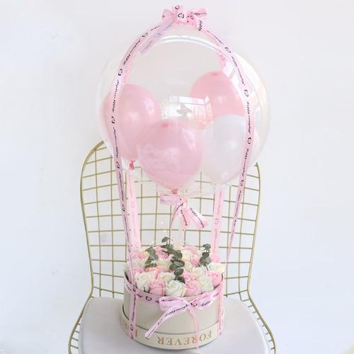 浪漫告白|熱氣球永生玫瑰花禮盒