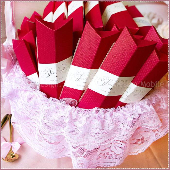 婚禮週邊-Sweet Love Pink盒玫瑰湯匙二入禮盒X50份+大提籃X1個-★限宅配