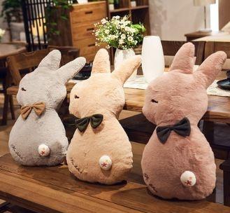 可愛毛絨囧臉兔