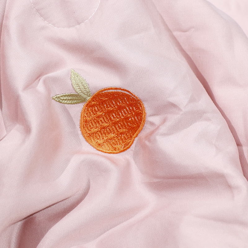 Orange Embroidery Lyocell Cooler Quilt
