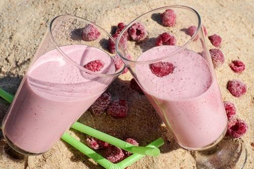 加入麥芽糊精的覆盆莓奶昔,體積膨脹,可因此降低成本